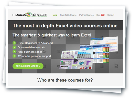como vender tu curso online myexcelonline.com