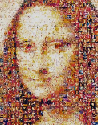fotomosaico de Mona Lisa por Robert Silvers