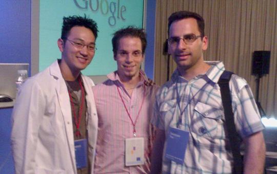 Isma y José Carlos en el Google Developer Day
