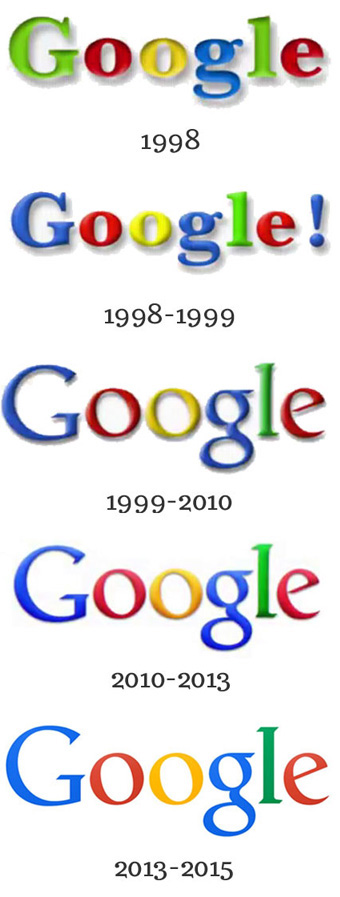proceso evolucion logotipo de Google