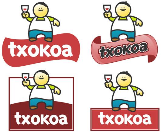 Diferentes fondos y formas para la creación de un logo