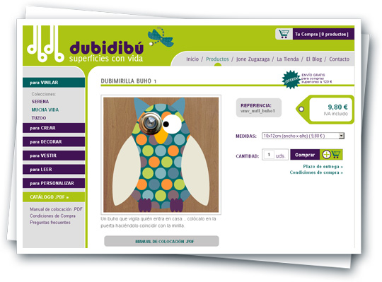 tienda on-line Dubidibú.com