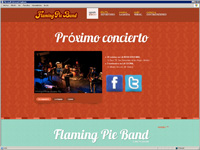 Diseño web para grupo de música Flaming Pie Band